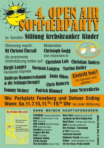 4. Open Air Sommerparty Plakat